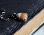 Candy Corn Gemstone Necklace