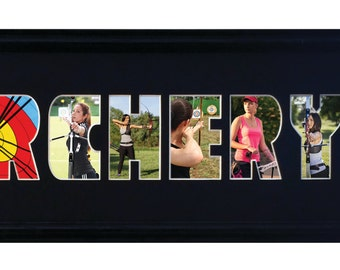 Custom Photomat Frame/Archery Photo Collage 8x26 (mat only)