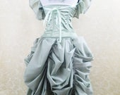 SALE Sage Green Tabitha Knee Length Bustle Skirt-One Size Fits All