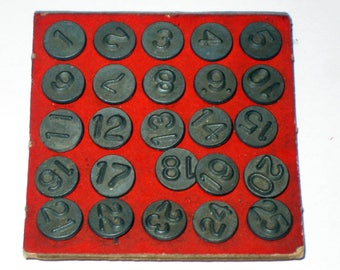 Vintage Arco Number Tacks - Window and Screen markers - Numbers 1-25 for Crafting