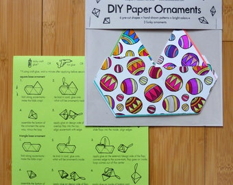 Circles DIY Paper Ornaments - craft, geometric, home decor, hanging, do it yourself
