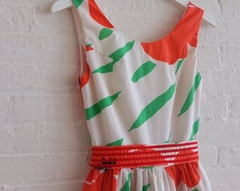 Tea Dress {raining poppies } size 4