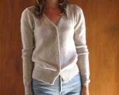 ICE BLUE soft cardigan sweater, s