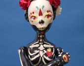Ceramic BJD, 9.6 inch handmade Ball joint doll , SHIPPING INCLUDED, Sugar Skull