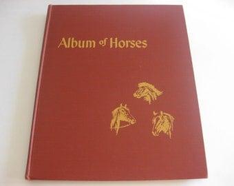 Album of Horses Vintage Marguerite Henry 1951 Arabian Belgian Thoroughbred Saddle Clydesdale