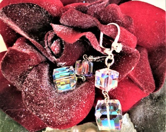 Swarovski Crystal Cube Earrings