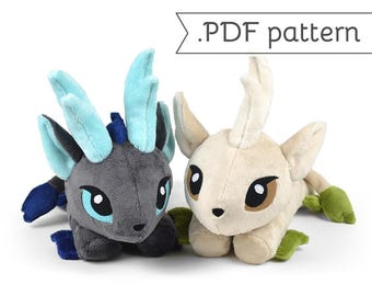 Kirin Qilin Youkai Monster Asian Japanese Unicorn Animal Plush Sewing Pattern .pdf Tutorial