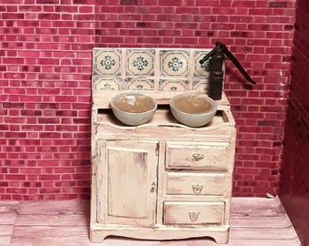 Old sink for dollhouse