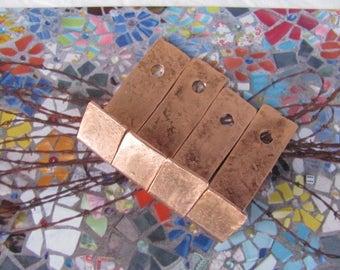 Copper Wall Hooks. Copper Hangers. Copper Wall Fixtures. SMALL Copper Wall Hooks. Cabinet Hooks.SET OF 4.