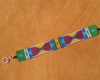 CROW NATION. Balance Design. Loom beaded bracelet.