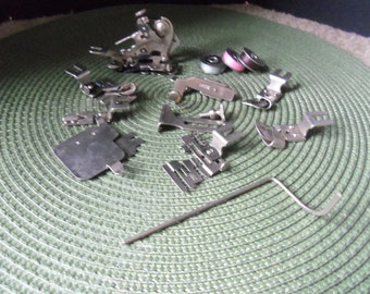 Vintage Lot Geist Sewing Machine Parts and Bobbins