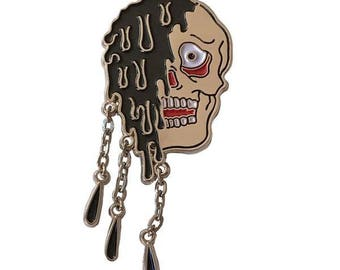 Murderous Tar Enamel Pin with Drippy Tar Action Collab with Frankie Mejia Creepshow