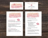 LipSense Branding Bundle  - LipSense Business Cards - Application Card, Tips and Tricks - Custom LipSense