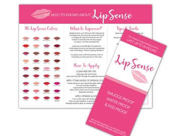 LipSense Brochure - Tips and Tricks - Application - Join My Team - Color Chart LipSense Bundle