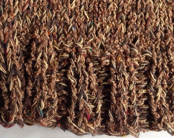 Knit hat, men's beanie, hand knit cap, cotton blend, spring winter fall, size M L XL, beige brown, toque, handmade crochet i304