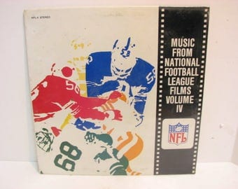 Vintage NFL Football Record Music From National Football League Films Vol. IV SEALED Vinyl Lp