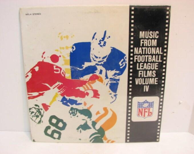 Vintage NFL Football Lp Record Music From National Football League Films Vol. IV SEALED Vinyl Lp