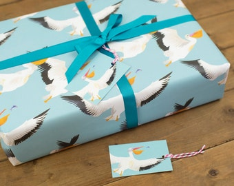 Pelican Party Wrapping Paper - 100% Recycled