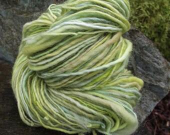 Handspun yarn, worsted weight handpainted Merino wool yarn-Jack In The Green