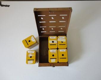 VINTAGE 1950s metal home BUDGET BANK lock box - missing key