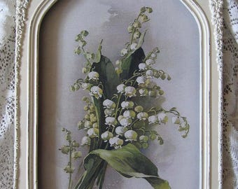 Catherine Klein, Lily of the Valley, Art Print, French, Ribbon, Rose, Antique, Barbola, Frame, Shabby Chic, C Klein, Half Yard Long