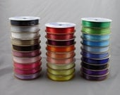 """Ribbon Spools; Double Face Ribbon; 1/8"""" Width; 29 Spools, 10 yards each (290 yards total); Spool O' Ribbon from Offray"""