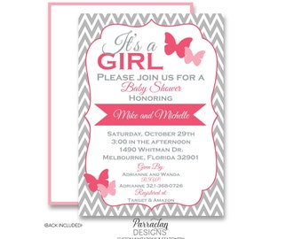Butterfly Baby Shower Invitation | Butterfly Shower Invitation | printable | digital {item 25}