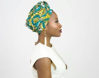 African fabric headwrap, African print headwrap, African print scarf, African head wrap, African headwrap, African head scarf, Ankara scarf