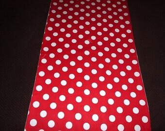 Red and White Polka Dot Table Runner