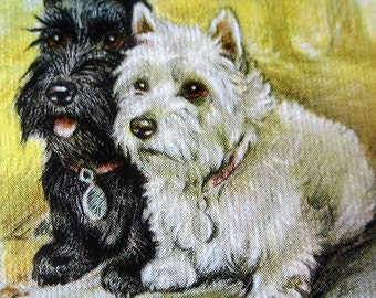 Westie Scotty Scottie Puppy Dog BUDDIES Playing Card Pinochle Swap USA BUDDIES Western Products