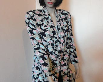 1980's Floral Blazer Carol Little Sz 12