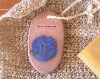 Natural Clay Pumice Stone and Mint Soap Set Cobalt