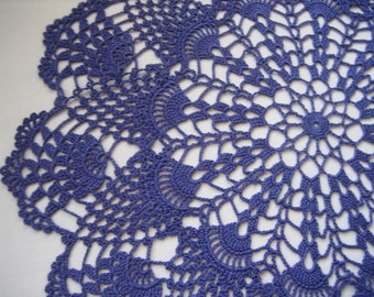 Violet / Purple  Crochet Doilies, Lace Doilies, Purple Table Center Crochet, Lace