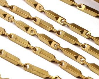 Bar Chain, Link Chain, 1 M Raw Brass Bar Chain (14.5x2.2mm) Bs 1062