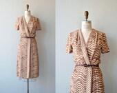 Theta Wave dress | vintage 1970s dress | printed 70s dress