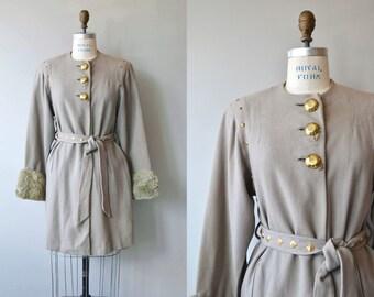 Mingling Elements coat | vintage 1940s coat | wool 40s coat