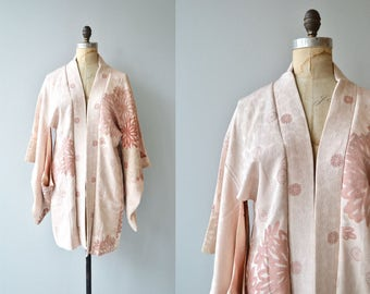 Kiku silk haori | vintage silk japanese jacket | vintage haori jacket
