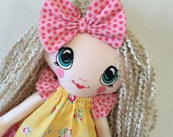 Handmade doll Ready to ship