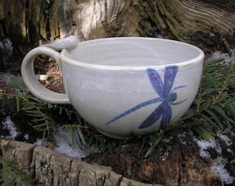 Dragonfly Mug 14 oz., soup mug, tea mug, cappuccino mug, favorite mug