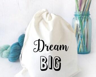Project Bag for Crochet- Bag for Knitting- Inspirational Drawstring Bag- Funny Project Bag- Drawstring Bag for Knitting- Sock Knitting