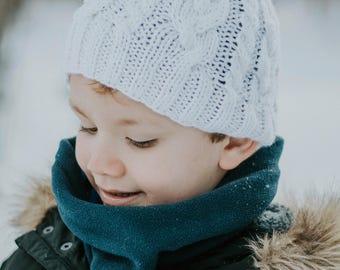Knit Cable hat, knit cable beanie, knit hat, knit beanie, hat, Magnolia beanie, knit Navy blue hat, children beanie.