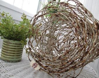 Sweet Old Chippy Rusty Metal Vintage Cottage Flower or Vegetable Garden Fence