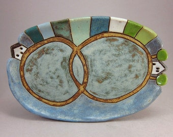 Us...Small Oval Trinket Dish in Stoneware
