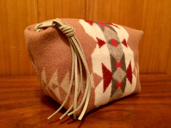 Wool Clutch Unlined / Travel Bag / Cosmetic Bag / Makeup Bag Large