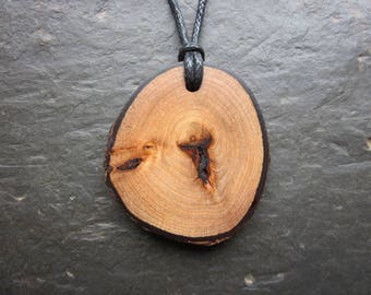 Natural Wood Pendant - English Elm - Promotes All Kinds of Love.