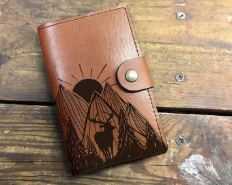 Leather Journal, Leather Sketchbook, Leather Passport cover, nature Journal, moleskin Journal, field notes journal, moleskin cover