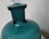 sale teal apothecary bottle with stopper