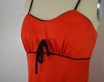 on sale Vintage JC Penney RED party dress 1970's fancy DISCO