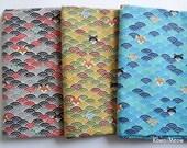Kimono Fabric - Wave Pattern Dogs  3 Fat Quarter Bundle Set (nu170418)