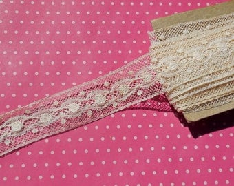 Antique Lace Vintage Lace Valenciennes Cotton Lace Dots